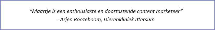 Maatje is een enthousiaste en doortastende content marketeer.