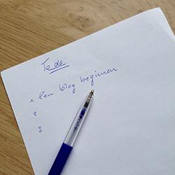Een blog beginnen - to do lijstje