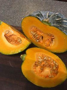 Suzie's zelfgegroeide pumpkin