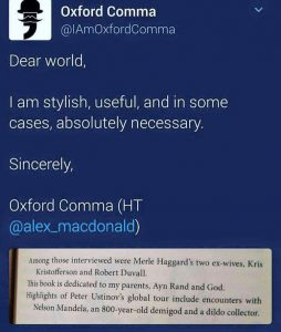 The Oxford Comma - @Alex_Macdonald